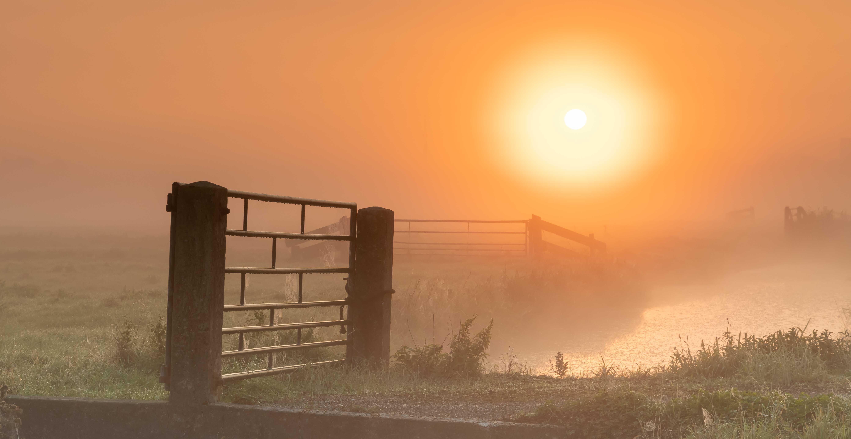 Oude Land van Strijen zonsopgang